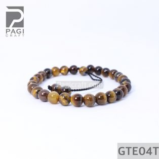 Gelang Batu Akik Tiger Eye Premium 6mm